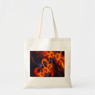 Dance of the Dragons - Indigo & Amber Eyes  Artist Tote Bag