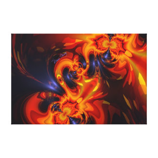 Dance of the Dragons - Indigo & Amber Eyes Canvas Print
