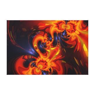 Dance of the Dragons - Indigo & Amber Eyes Canvas Print