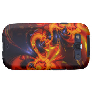 Dance of the Dragons - Indigo & Amber Eyes Galaxy S3 Covers