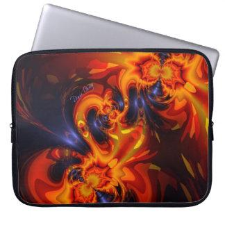 Dance of the Dragons - Indigo & Amber Eyes Computer Sleeve