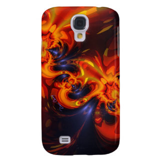 Dance of the Dragons - Indigo & Amber Eyes Galaxy S4 Case