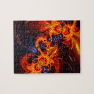 Dance of the Dragons - Indigo & Amber Eyes Jigsaw Puzzle
