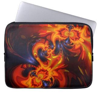 Dance of the Dragons - Indigo & Amber Eyes Laptop Computer Sleeves
