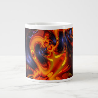 Dance of the Dragons - Indigo & Amber Eyes Large Coffee Mug