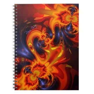 Dance of the Dragons - Indigo & Amber Eyes Spiral Notebooks