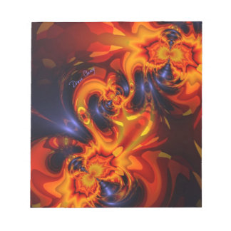 Dance of the Dragons - Indigo & Amber Eyes Note Pads