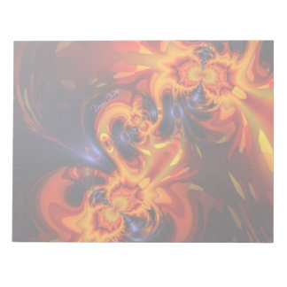 Dance of the Dragons - Indigo & Amber Eyes Note Pad