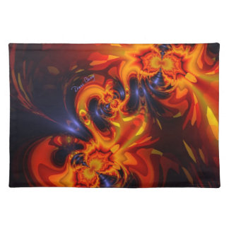 Dance of the Dragons - Indigo & Amber Eyes Cloth Placemat