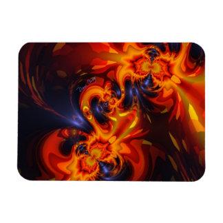 Dance of the Dragons - Indigo & Amber Eyes Rectangular Photo Magnet