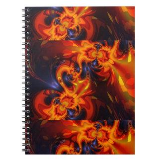 Dance of the Dragons - Indigo & Amber Eyes Spiral Notebook