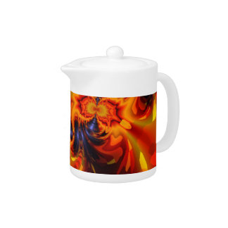 Dance of the Dragons - Indigo & Amber Eyes Teapot