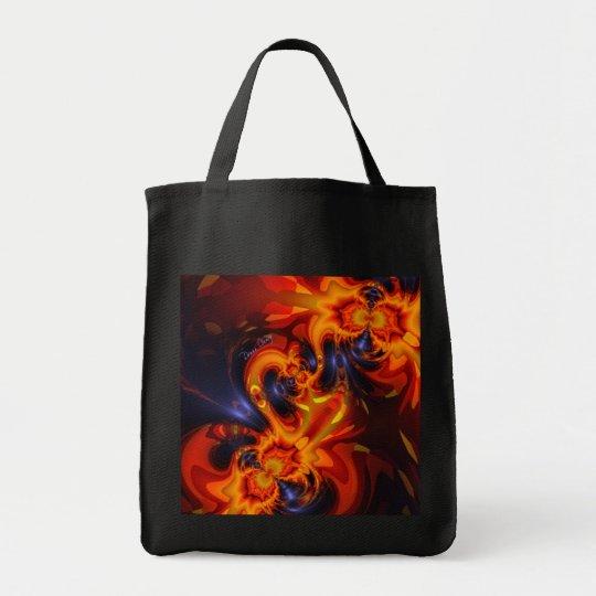 Dance of the Dragons - Indigo & Amber Eyes Tote Bag