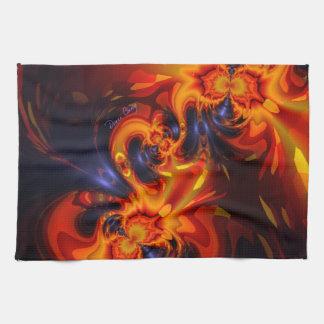 Dance of the Dragons - Indigo & Amber Eyes Towel