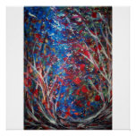 Dance of the Elements (Abstract 52x52 Canvas) Posters