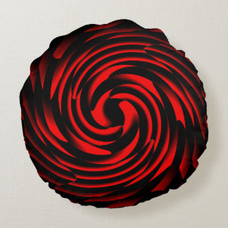 Dance of the elements of fire round pillow
