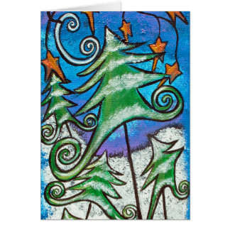 Dance Of the Evergreens Christmas Card