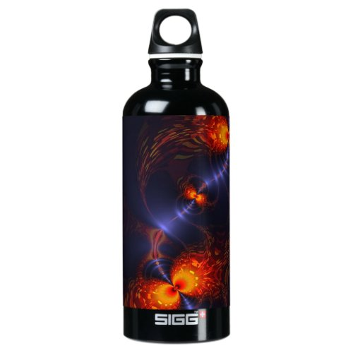 Dance of the Eyes – Indigo and Gold Sight Aluminum Water Bottle