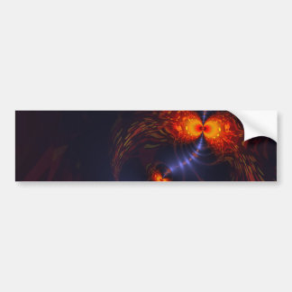 Dance of the Eyes – Indigo and Gold Sight Bumper Sticker