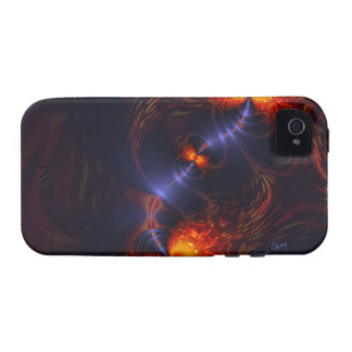 Dance of the Eyes – Indigo and Gold Sight Vibe iPhone 4 Cases