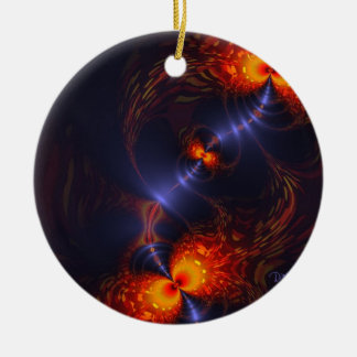Dance of the Eyes – Indigo and Gold Sight Ceramic Ornament