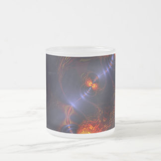 Dance of the Eyes – Indigo and Gold Sight Frosted Glass Coffee Mug