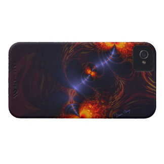 Dance of the Eyes – Indigo and Gold Sight iPhone 4 Case