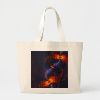 Dance of the Eyes – Indigo and Gold Sight Large Tote Bag