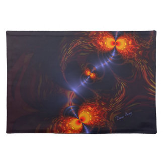 Dance of the Eyes – Indigo and Gold Sight Cloth Placemat