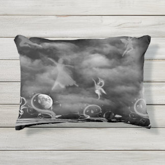 Dance of the Fairies outdoor accent pillow