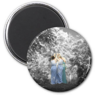Dance of the Fates and the Faery Queen 2 Inch Round Magnet