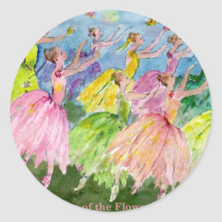 Dance of the Flowers Classic Round Sticker