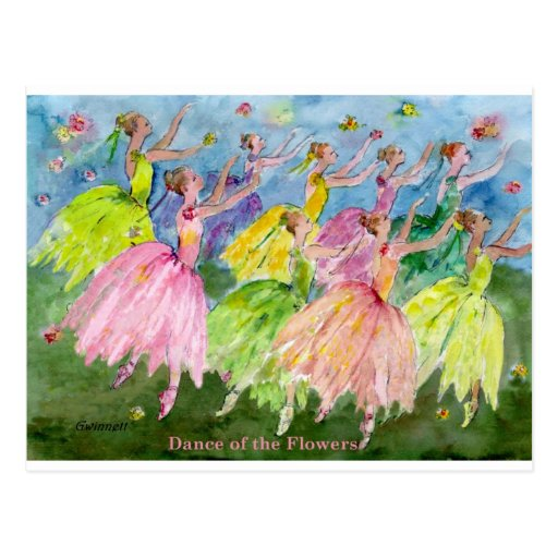 Dance of the Flowers Post Card