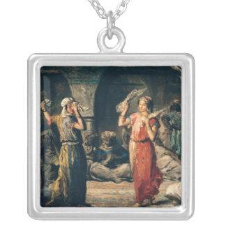 Dance of the Handkerchiefs, 1849 Square Pendant Necklace