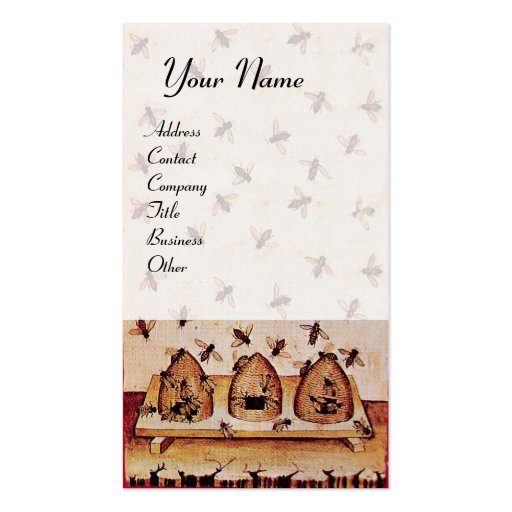 DANCE OF THE HONEY BEES WITH FOUR ELEMENTS BUSINESS CARD