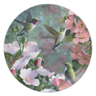 """Dance Of The Humming Bird"" Melamine Plate"