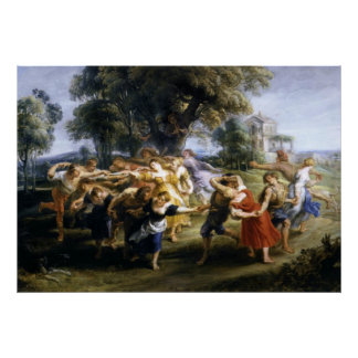Dance of the Italian Villagers Canvas Print