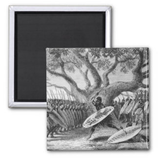 Dance of the Landeens, or Zulus 2 Inch Square Magnet