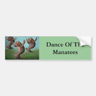 Dance Of The Manatees Car Bumper Sticker