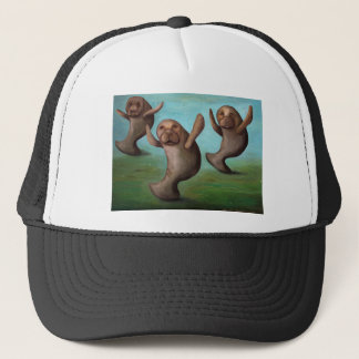 Dance Of The Manatees Trucker Hat