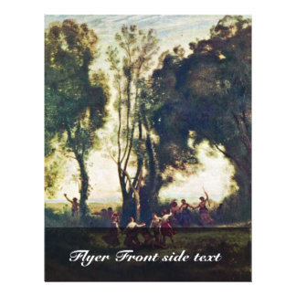"""Dance Of The Nymphs Detailed By Corot Jean-Baptist 8.5"""" X 11"""" Flyer"""