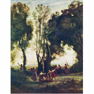 Dance Of The Nymphs Detailed By Corot Jean-Baptist Statuette