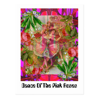 Dance Of The Pink Roses Postcard