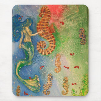 Dance of the Sea Horse Mouse Pad