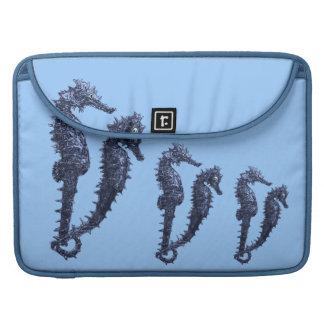 Dance Of The Seahorses (Blue) MacBook Pro Sleeve