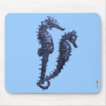 Dance Of The Seahorses (Blue) Mouse Pad