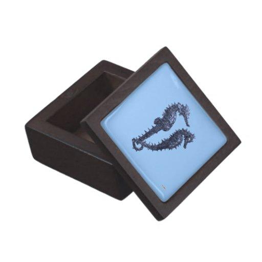 Dance Of The Seahorses (Blue) Premium Jewelry Box