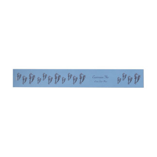 Dance Of The Seahorses (Blue) Wrap Around Address Label