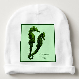 Dance Of The Seahorses (Green) Baby Beanie