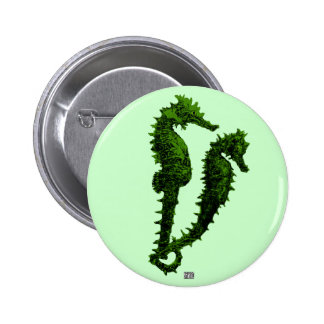 Dance Of The Seahorses (Green) Pinback Buttons